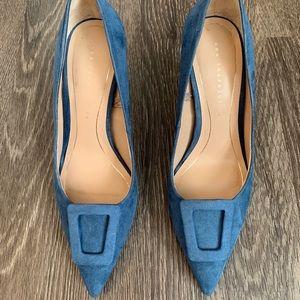 Zara Blue Heels Size 36